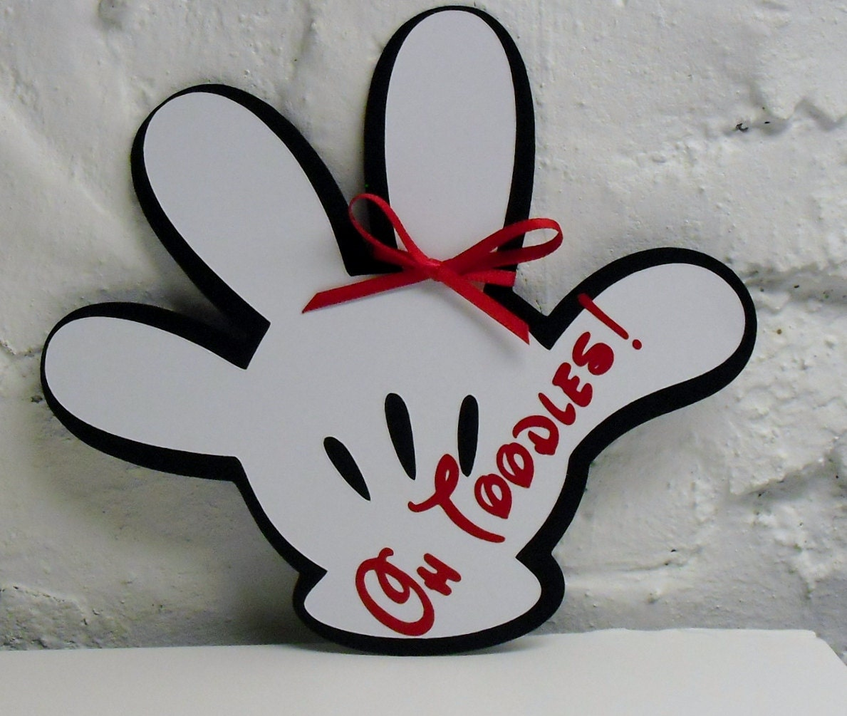 Mickey Mouse Inspired Invitation w/ Oh Toodles by DooMeAFavor