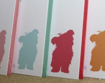 Dog Silhouette- set of 24 personalized stationery cards with matching envelopes