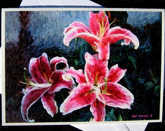 Stargazer Lily, Greeting Card