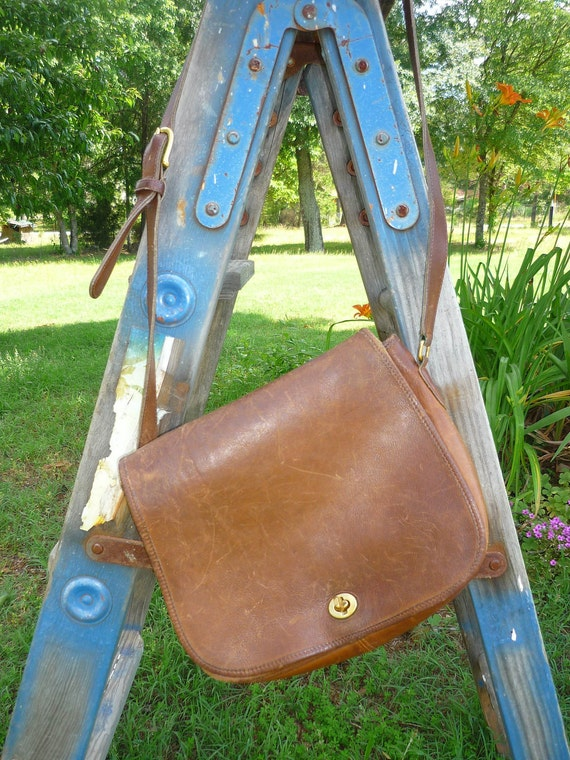 Vintage Coach Distressed Leather Purse