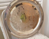 William WM Rogers Silver Serving Platter from Late 1800s Early 1900s 162 Stamp