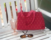 Reserved listing for SassyGrove--red/gold paisley purse