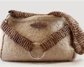 The Nikki Hand knit, Felted Handbag