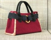 Wool & Suede Hand Knit Handbag - A Gift She Will Love