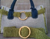LANI -Hand Knit Handbag & Belt Set