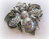 Bee Moth Bug Steam Punk Gothic Steampunk Jewelry Metal Finding