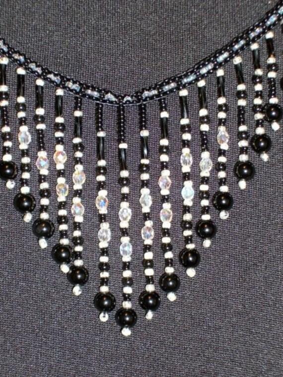 Beadwork Bib Necklace for Women Bead Necklaces