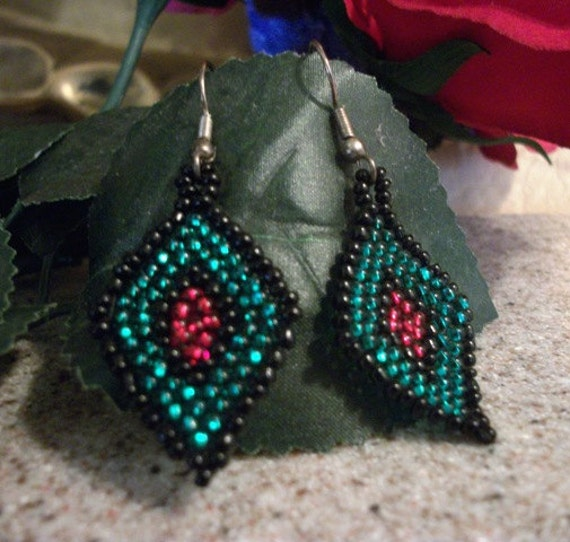 Diamond in The Rough Beaded Earrings