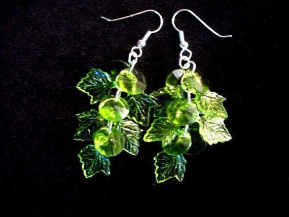 Crystal Green Dangle Chandelier Earrings for Women