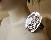 Reserved Listing for ANTONIS--Steampunk Industrial Watch Movement ring FREE shipping