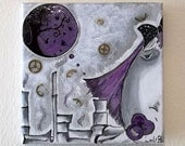 Reserved Listing for LINA--My Purple World painting