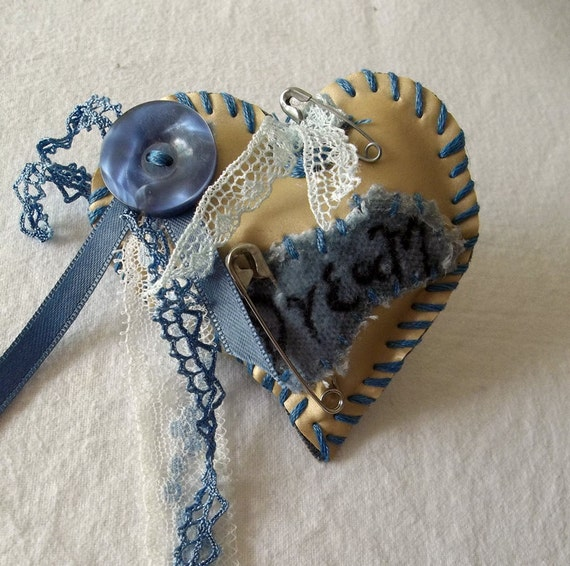 My Romantic Dream Heart brooch FREE shipping
