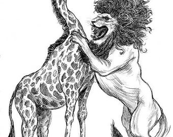 A Giraffe and Lion in Love