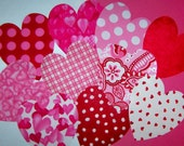 Iron On Fabric Applique 10 Assorted Valentine Hearts