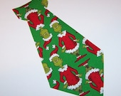 Iron On Fabric Applique CHRISTMAS The GRINCH NECKTIE Neck Tie 8 inch...Great Size For Shirt Size 4-8 Years