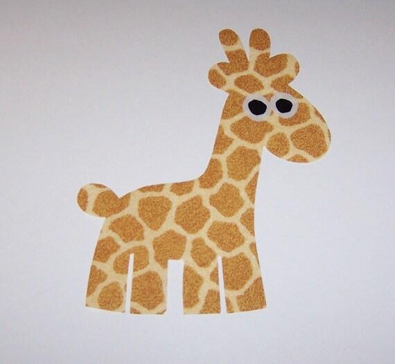 Iron On Fabric Applique Large Giraffe