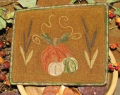 SALE Pumpkins and Cattails Punchneedle Embroidery Pattern
