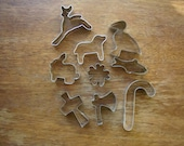 Vintage Miniture Cookie Cutters  Lot of 9