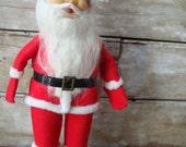 RESERVED Vintage Felted  Santa 1960s Standing Sweet