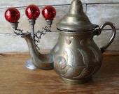 Vintage Primitive Coffee or Tea Pot Mixed Metals