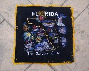 Vintage Florida Souvenir Pillow Cover For Tourists