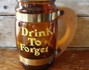 Vintage Beer Word Mug Cup Stein 50s or 60s
