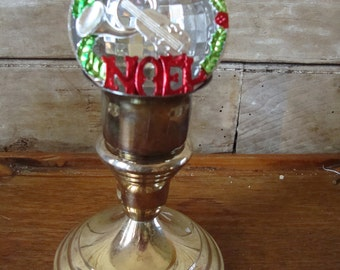 Vintage  Plastic Noel Christmas Ornament