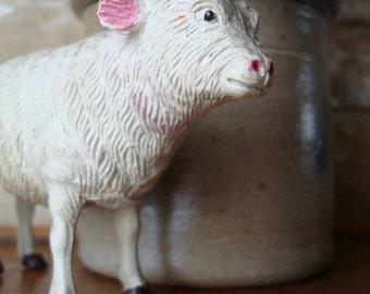 Vintage Nativity Sheep Lamb  Christmas Figure Rubber