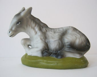 Vintage  Donkey or Burro Japan Nativity Replacement or Your Private Collection