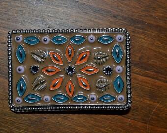 Vintage Belt Buckle  Great American Western Floral Design