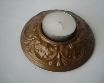 Vintage Brass Candle Holder From a Vintage Lamp