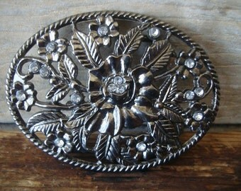 Vintage Buckle With Rhinestones