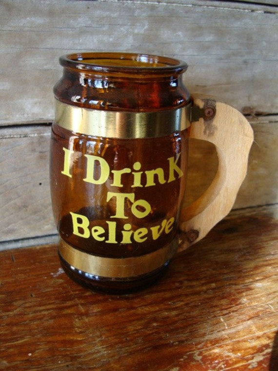 Beer Word Mug Cup Stein 50s or 60s
