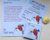 Tooth Fairy Kit- Certificate Letter Envelope- Cheeky Fairy- Printable- Editable- you edit- you print- INSTANT DOWNLOAD