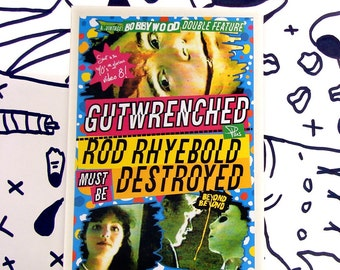 Gutwrenched/Rod Rhyebold Must Be Destroyed double feature - independent, underground, psychotronic, cult, movie DVD-R