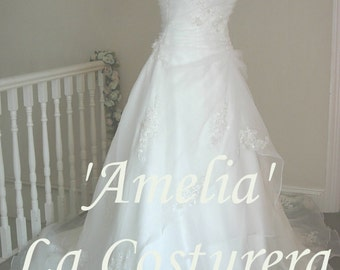 ON SALE 'Amelia ' Handmade Bridal Gown