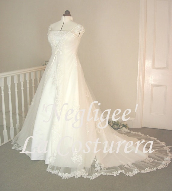 Lace Negligee Bridal Gown
