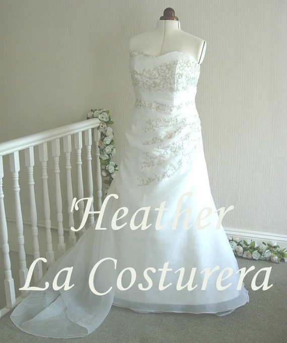 ON SALE 'Heather ' Handmade Beaded Bridal Gown