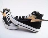 Superhero Shoes- Gold Lightning