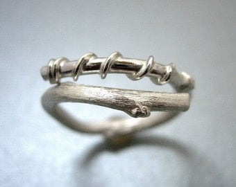 Silver orgainc ring