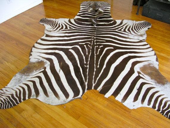 Vintage Real Zebra Rug Hide