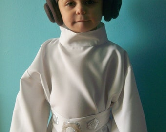 Princess Leia Costume, Princess Leia Cosplay, Carrie Fisher star, star wars female costume infant sizes,