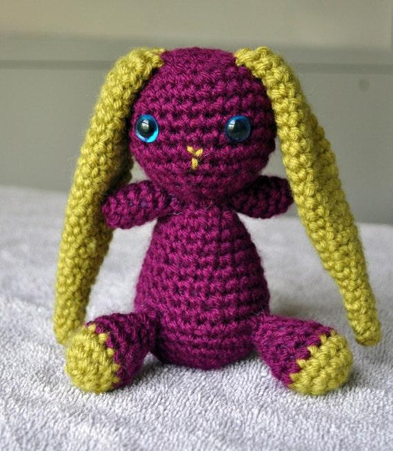 Amigurumi Floppy Ear Bunny : Crocheted Amigurumi Floppy Eared Bunny Rabbit by ...