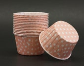 10 Pink and White Polka Dots Baking Cups -- LIMITED QUANTITIES