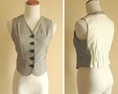 Vintage vest,  annie hall waist jacket, free shipping