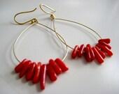 Sweet Coraline Coral Earrings