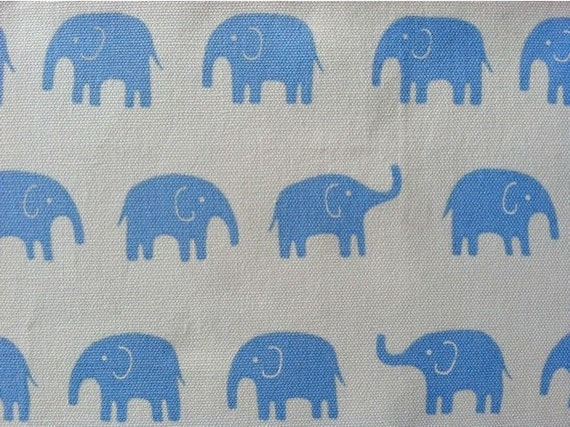 Elephant fabric by daiwabo fabrics tip top by bertiesfabric for Elephant fabric