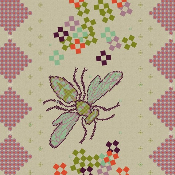 Melody Miller Fabric Ruby Star Spring - Bee in Springtime - 1 Yard