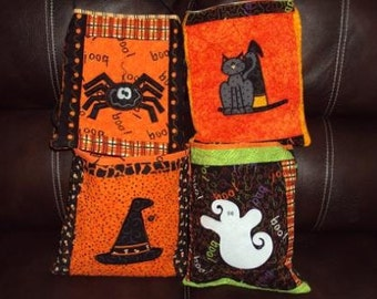 Quilted Halloween Treat Bags