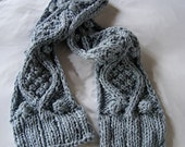 KNITTING PATTERN for chunky cotton cable knit hope scarf